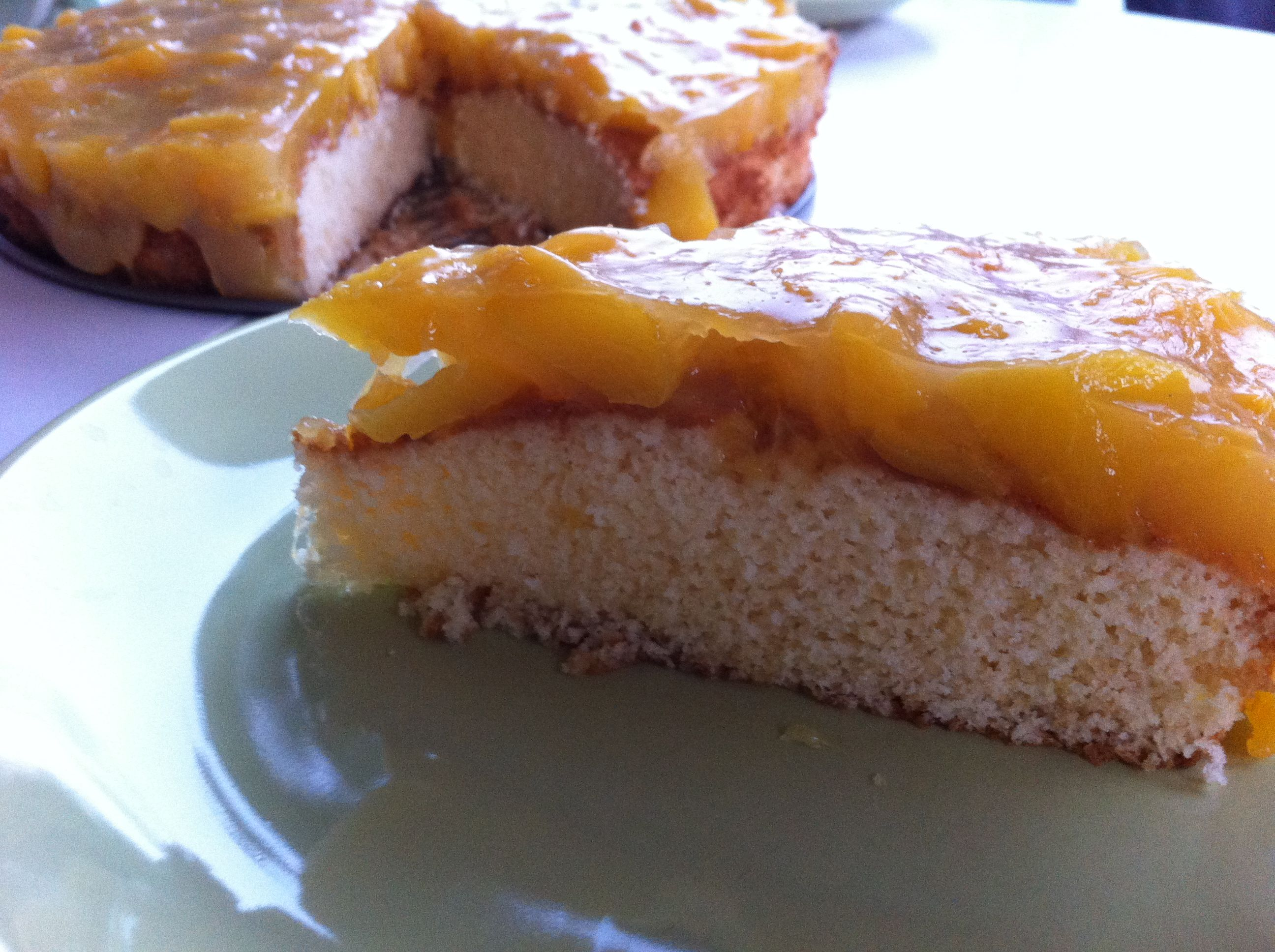 őszibarack torta
