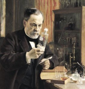 Louis Pasteur (1822-95) in his Laboratory, 1885 (oil on canvas)