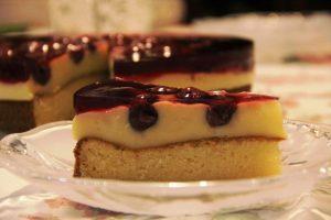 Pudingos cseresznye tortaszelet gluténmentes
