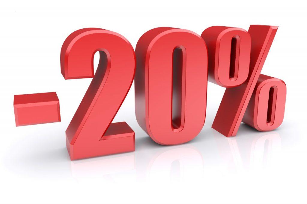 20 százalék kedvezmény webáruházban történő vásárlásnál